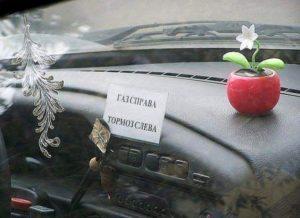 Девушка за рулем