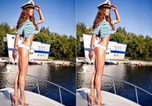 Девушка на яхтем