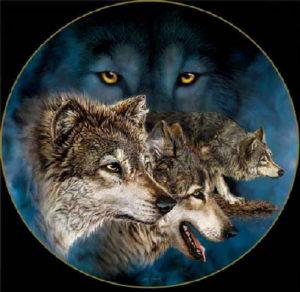Картина Стивена Гарднера -  Волки